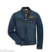DUCATI Scrambler Trucker Patch Jeansjacke Denim Jacke Jeans blau NEU !!