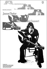 James Taylor 1970 Carnegie Hall New York Concert Poster