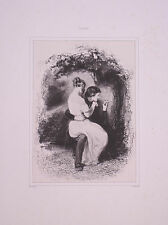 Lithographie Originale de Gavarni