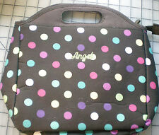 Pottery Barn~ Brown with Bright Dots PB Teen Gear up Tote LUNCH BAG BOX~Angel