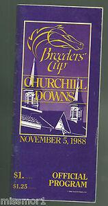 1988 Breeders Cup Horse Racing program Alysheba Chris McCarron TOUGH!