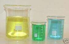 Beaker set 2000 600 250 mL Griffin Borosilicate Glass Beakers Lab New