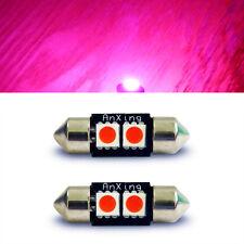 2x PINK 31mm LED Festoon 2SMD Bulb 3021 Interior Map DE3175 Dome Light Lamp 3022