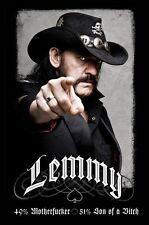 Lemmy 49% Mofo - Brand New Licensed Maxi Poster 91.5cm x 61cm - Motorhead
