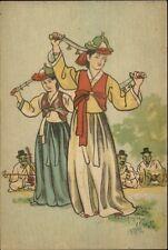 Classic Dance Sword of Kisang Girls Pub in Seoul Korea Postcard