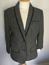 Fenn Wright Manson Grey 3/4 Sleeve Ladies Jacket Size 14. BNWT RRP £129.