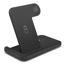 3in1 Qi беспроводное зарядное устройство док-станция для iWatch 6/SE/5/4/3/2 airpod iPhone 12 12 Pro 11
