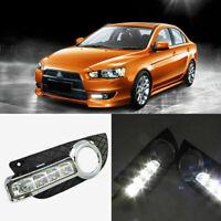 Superb LED Daytime Running Lights DRL+Foglight Cover For Mitsubishi Lancer-ex