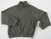 Speedo Men's Warm Fleece L/S Full Zip Solid Gray Warm Up Sweater Jacket - Small