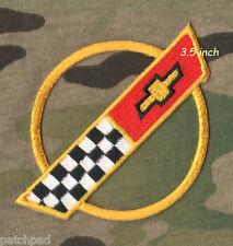 """VETTE CORVETTE RACE TEAM 1984-1996 Corvette C4 FRONT HOOD NOSE EMBLEM 3.5"""" PATCH"""