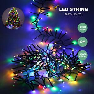 100 LED RGB 10M String Fairy Lights AU Plug Multi Color Xmas Decor Tree