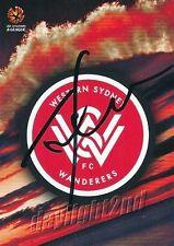 ✺Signed✺ 2016 2017 WESTERN SYDNEY WANDERERS A-League Card TONY POPOVIC