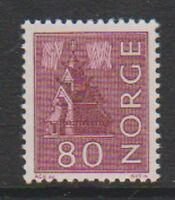 Norway - 1963, 80 ore Claret stamp - MNH - SG 539a