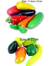 New 6x Large Artificial Fake Fruit&Vegatales Bar kitchen Home Display Fake Salad
