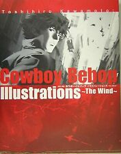 "Toshihiro Kawamoto Cowboy Bebop Illustrations ""The Wind"" Art Book Used Japan"