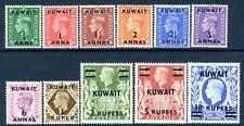 KUWAIT-1948-49 Set of 11 Values Sg 64-73a MOUNTED MINT V16984