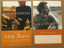 Five For Fighting Rare 2004 Double Sided Promo Poster for Battle Cd 12x18 Mint