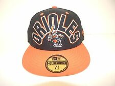 New Era 59 Fifty Baltimore Orioles Black Orange Fitted Size 7 1/4
