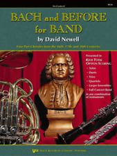 """""""BACH AND BEFORE FOR BAND"""" BARITONE T.C. MUSIC BOOK 1-INSTRUCTIONAL ON SALE NEW!"""