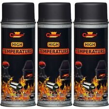 3 AUSPUFFLACK MOTORLACK Thermolack Anthrazit Grau 400ml Grill Farbe 800°C