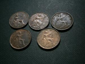 King George V five farthings