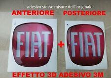 2 STICKERS 3D PVC STEMMA 53 MM VOLANTE LOGO FIAT CARBONIO 500 GRANDE PUNTO PANDA
