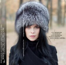 60c77c8f078dd Luxury Russian original AUthentic women s fur hat silver fox - eXclusive  design