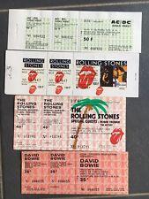 Lot Tickets De Concerts Rolling Stones ,ACDC,...