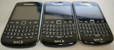 BlackBerry Curve 9350 Black Sprint Smartphone Cellphone Lot of 3