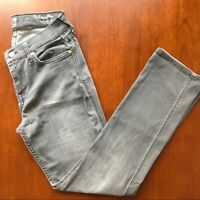 7 for all Mankind The Modern Straight Gray Jeans Womens 28