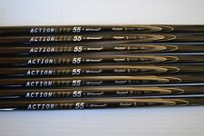 "8 New UST Mamiya Actionlite 55 Stiff Flex Graphite 41"" Iron Shafts .370 Parallel"