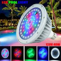 Pool LED Light Bulb, 40Watt 120V E26 Color Changing Swimming for Pentair Hayward