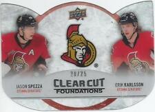 2012-13 UD Clearcut Foundations Jason Spezza Erik Karlsson 20/25 Ottawa Senators