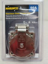 Marinco Stainless Steel Power Inlet 125/250V 50 Amp 6373EL