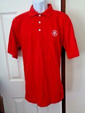 NIKE Dry-Fit Red Polo Shirt Men's Size Large Embroidered Logo Made In Malaysia