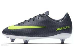 NEW Boys Nike Jr Mercurial Vapor CR7 Ronaldo Grey White Football Boots UK Size 3