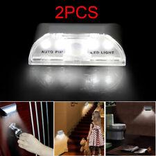 2X 4LED Light Lamp PIR Infrared IR Wireless Auto Sensor Motion Detector Keyhole