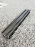 """80/20 Dual T-Slotted Black Anodized Extrusion 12""""x2""""x1"""" Great Condition"""
