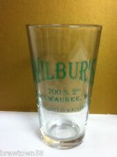 Wilbur's pint glass coolest joint in Walker's Point, Milwaukee WI scratched SU3