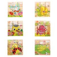 # Qzo Hot Holz Blöcke Tiere Kinder Baby Edukation Spielzeug Cartoon Puzzle