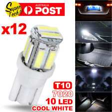 12PCS White T10 7020 10-LED Bulb Car W5W Wedge Dash Roof Stop Parker Plate Light