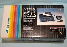 Vintage Midland Combo. 40 Channel Cb & Vhf Weather Monitor Nos Free Shipping