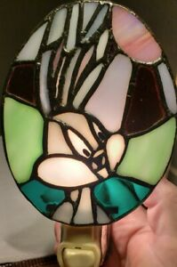 Dale Tiffany Night Light Bugs bunny Stained Glass. Beautiful detailed work.