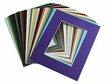Crescent Pack of 10 11x14 MIXED COLORS White Core Picture Mats for 8x10 Photos