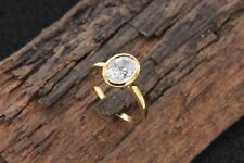 14k Yellow Gold Over Oval Cut 1Ct Solitaire Diamond Engagement Ring For Women's
