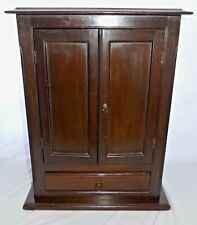 "Vintage Mini 22""T Mahogany Display / Storage / Jewelry  Cabinet. Drawer+ Shelves"