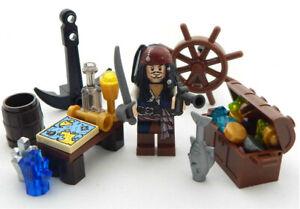 NEW LEGO CAPTAIN JACK SPARROW MINIFIG LOT potc pirates of the caribbean treasure