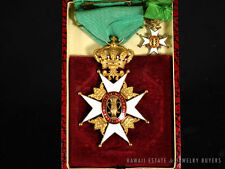 """VINTAGE """"ROYAL ORDER OF THE VASA"""" SWEDISH CHIVALRY MEDALS SET OF TWO *RARE*"""