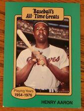 Hank Aaron 1987 Hygrade Baseball's All-Time Greats  baseball card.   VG..