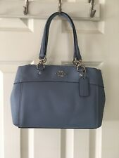New Coach F25395 MINI BROOKE Carryall Satchel Handbag Purse Bag Pool Blue